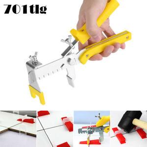 701tlg Nivelliersystem Verlegehilfe Zuglaschen Fliesen Clips Zange Werkzeug