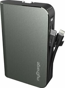 myCharge - HUB Turbo 10,050 mAh Portable Charger for Most Mobile Devices - Gray