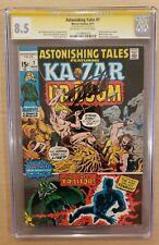 Astonishing Tales #7 CGC 8.5 SS Stan Lee OW-W Ka-Zar, Doctor Doom