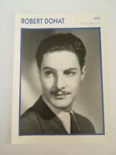 Robert Donat - Fiche cinéma - Portraits de stars 13 cm x 18 cm