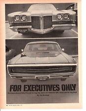 1971 CHRYSLER 300 & PONTIAC GRAND VILLE ~ ORIGINAL 6-PAGE ARTICLE / AD