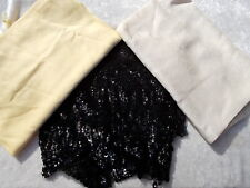 Vintage Cashmink Scarf - Silk Scarf - Sequin Scarf - Lot of 3