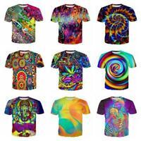 New Fashion colorful Trippy Funny 3D Print Women/Men Casual T-Shirt S-7XL