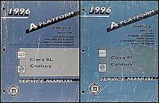 1996 Century and Cutlass Ciera Repair Shop Manual Set Buick Oldsmobile Olds