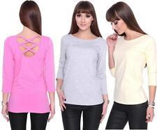 Klassische Damenblusen,-Tops & -Shirts im Blusen-Stil mit Rundhals und Baumwollmischung