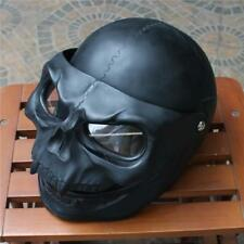Motorcycle Helmet Skull Skeleton Visor Flip Up  Black Knight Full Face Airbrush