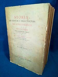 Scherr, Storia dei costumi e della coltura del popolo tedesco. 3 volumi Completo
