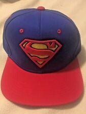 Superman DC Comics Adjustable Snapback Blue/Red  baseball Hat cap New w/tags