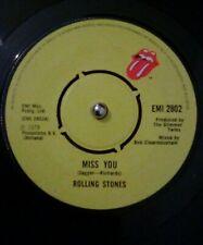 "Rolling Stones – Miss You Vinyl 7"" Single UK EMI 2802 1978"