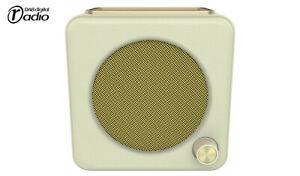 Bush Retro Mini Digital DAB & FM Radio with Alarm Clock Timer Function - Cream