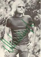 MICHEL ANGELO selt. s/w Photo, Originalautogramm aus den 70er
