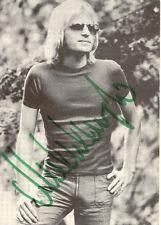 Michel Angelo cirés. S/W photo, original autographe de la 70er RS. Canne tache