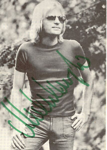 MICHEL ANGELO selt. s/w Photo, Originalautogramm aus den 70er