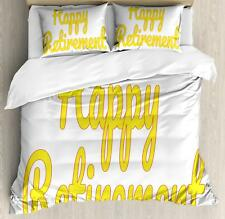 Retirement Party Duvet Cover Set Twin Queen King Sizes with Pillow Shams