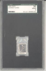 John Chad mini strip card 1950 R423 gumball machine SGC 2 Chicago Blackhawks