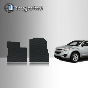 ToughPRO Front Mats Black For Chevrolet Equinox All Weather Custom Fit 2010-2017