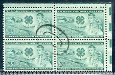 *PJ's - #1005 Used Block (4) XF/Sup w/ Muted Double Oval Cancel -
