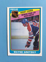 Wayne Gretzky 1984-85 O-Pee-Chee Hockey Card #382 Assists Leader Edmonton Oilers