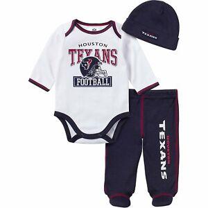 Gerber NFL Infant Houston Texans Bodysuit, Footed Pant & Cap Set (3 Piece)