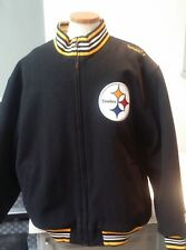 PITTBURGH STEELERS Mitchell & Ness Throwback Reversible Wool Jacket Coat XXL NEW