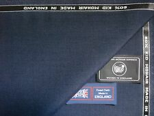 60% KID MOHAIR & 40% WOOL WORSTED SUITING FABRIC MADE IN ENGLAND - 3.4 m