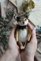 Teddy Handmade Interior Toy Collectable Gift Animal OOAK Dog Puppie Doll Decor