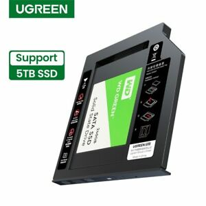 """UGREEN HDD Caddy 9.5mm SATA to USB 3.0 for 2.5""""  for Laptop DVD-ROM 5TB HDD SSD"""