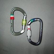 2 Locking Carabiners Petzl William DMM key-lock rappel climbing lead trad anchor