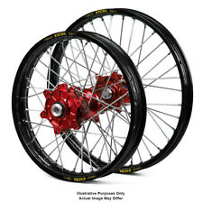 "17"" Front Rear Black/Red Motard Wheels Fit Honda Africa Twin CRF1000-L 2018"