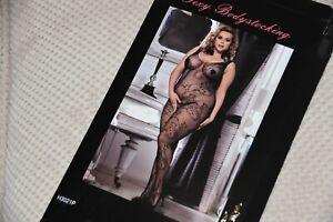 ODDS - Black coloured XL fishnet body stocking, BN