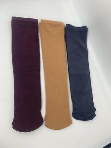 12 pr SAMPLES Nylon Knee-high Moisture-Wicking Boot/Trouser Socks - 3 color pack