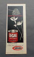 PUB PUBLICITE ANCIENNE ADVERT CLIPPING 010617/ EN GRAIN SOLUBLE MOULU CAFE LEGAL