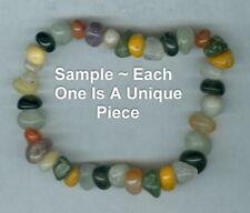 "Genuine Multi Gemstone Chip Bead Elastic Stretch Bracelet ~ 7"" ~ 7.5"" ~ New USA"