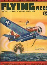 1942 Flying Aces October Pulp - Flying Tigers; Battle of Midway; Ryan School;