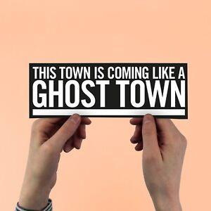 The Specials Lyric Sticker, Ghost Town, AKA, 2 tone, ska, free neslon mandela