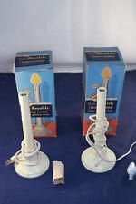 Lot of 2 Vintage Royalite 705 Ivory Christmas Candles w/ Original Boxes & Bulbs