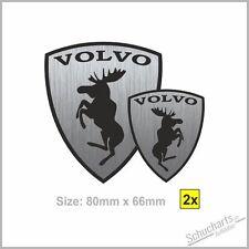 NEW 2x VOLVO Alce Elk MOOSE Stainless s/v40 v50 s60 s/v70 v60 xc60/70/90 c30 c70