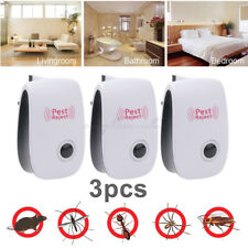 3x Electric Ultrasonic Ant Mice Spider Mosquito Cockroach Insect Pest Repeller