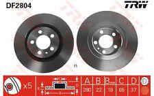 TRW Juego de 2 discos freno Antes 280mm ventilado SEAT VOLKSWAGEN GOLF DF2804