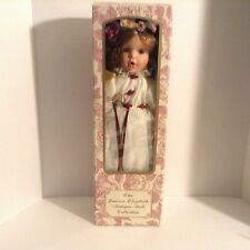 The Lauren Elizabeth Antique Doll Collection White dress Angel Wings Red Green
