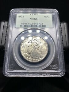 1939 Walking Liberty Half Dollar PCGS MS65 OGH - No Reserve