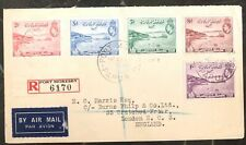 1938 Port Moresby Papua New Guinea Registered Airmail Cover To London England