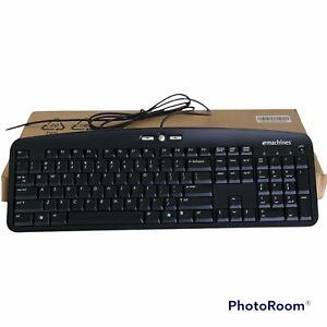 eMachines Black Keyboard KB-0705 Slim Thin Wired New in Box