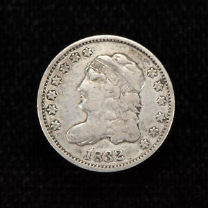 1832 H10c Capped Bust Silver Half Dime - Luster - XF Dets - SKU-T714