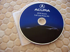 ACURA OFFICIAL MDX RDX RL TL TSX ZDX PRESS KIT CD ROM BROCHURE 2010 USA EDITION