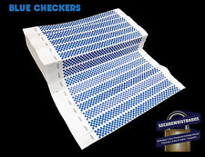 1000 x Tyvek Party, Event  Wristbands Blue Checker