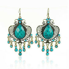 Hot Fashion Vintage Antique Style Earrings Turquoise Long Drop Dangle VE8