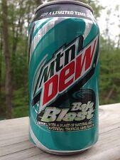 1 New 12oz 2014 Mountain Dew Baja Blast Can Soda Pop Beverage Full