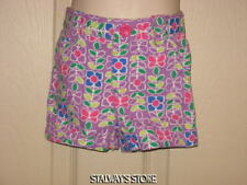 2 Pair Shorts Circo Purple Flowers Butterfly + Cherokee Solid Pink 12 Months NEW