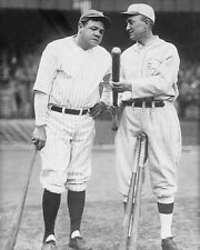 1927 Yankees BABE RUTH & Tigers TY COBB Glossy 8x10 Photo Print Photograph